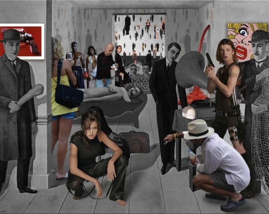 La asesino amenazado, Magritte