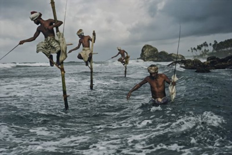 Fishermen at Weligama